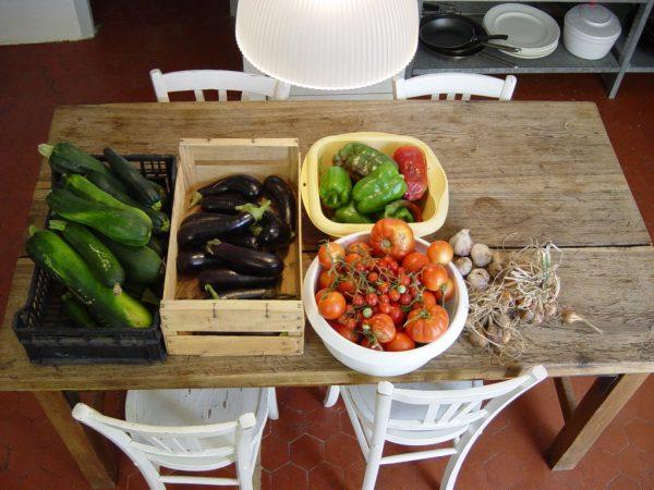 Koken in de Haute Provence: tian provençal - aubergines, courgettes, tomaten etc