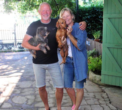 Wij zijn wij, Sheila en Remko met teckels Peel en Sien